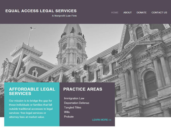 Equal Access Legal Services Website