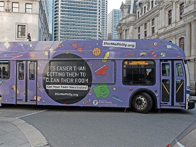 Bus Advertising: Vaccine Campaign