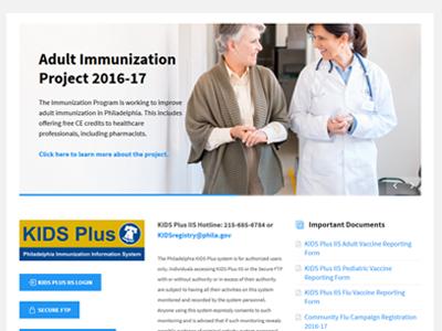 Health Department Website