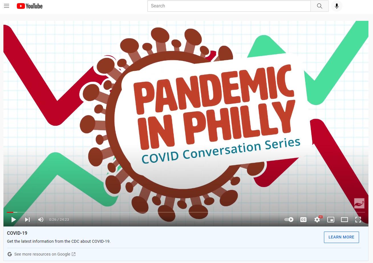Animated Logo YouTube COVID Podcast